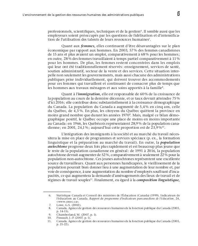18 L'approche systémique de la gestion des ressources humaines forte tension sur les effectifs puisque les dépenses en re...