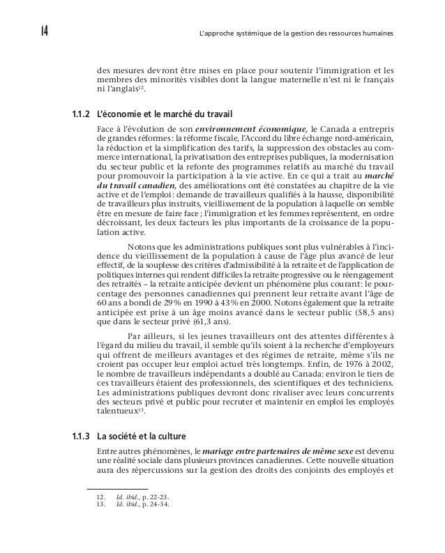 L'environnement de la gestion des ressources humaines des administrations publiques 19 Cette dernière caractéristique, q...