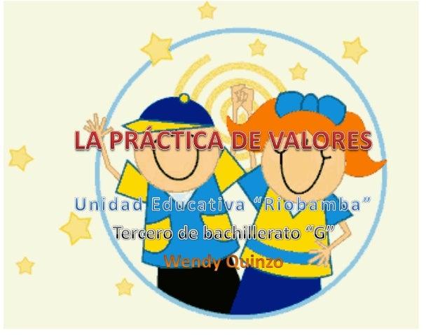 La práctica de valores