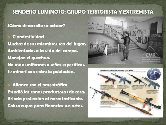  En busca del equilibrio estratégico Pasar del campo a la ciudad. Controlar de organizaciones sociales. Asesinato de diri...