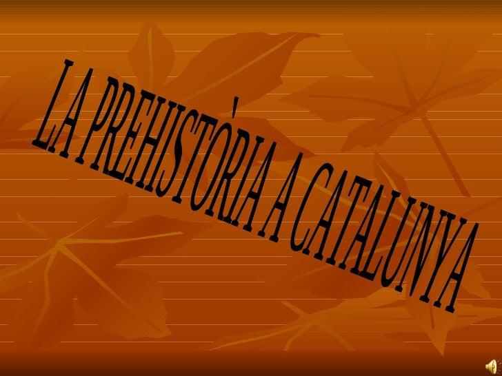LA PREHISTÒRIA A CATALUNYA