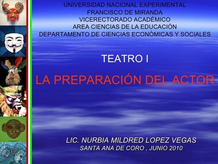 <ul><ul><li>LIC. NURBIA MILDRED LOPEZ VEGAS </li></ul></ul><ul><ul><li>SANTA ANA DE CORO , JUNIO 2010 </li></ul></ul>UNIVE...