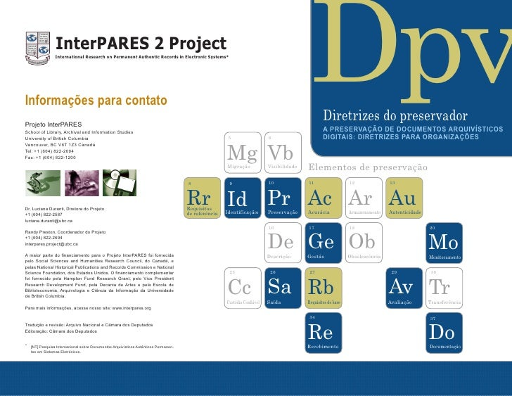 InterPARES 2 Project                           International Research on Permanent Authentic Records in Electronic Systems...