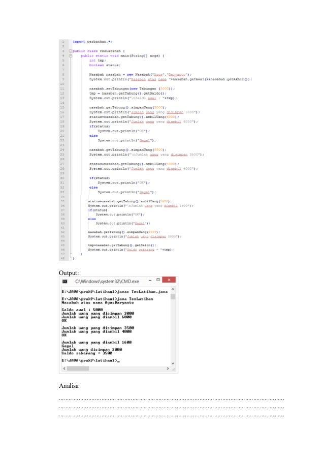 Pbo lapres mengelola kelas latihan 1 mengimplementasikan uml class diagram dalam program untuk package perbankan source code 6 ccuart Gallery