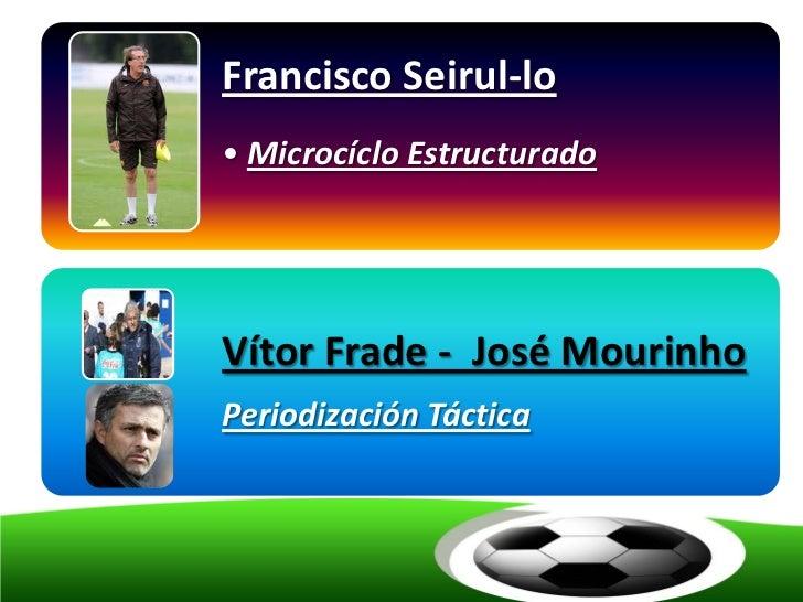 Francisco Seirul-lo• Microcíclo EstructuradoVítor Frade - José MourinhoPeriodización Táctica