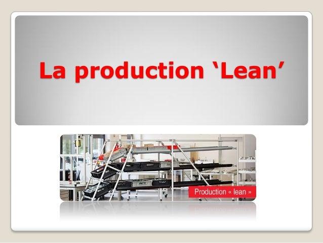 La production 'Lean'