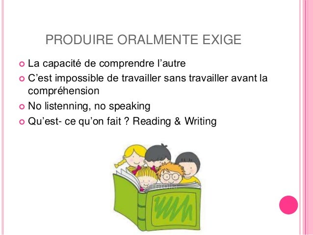 La production orale Slide 3