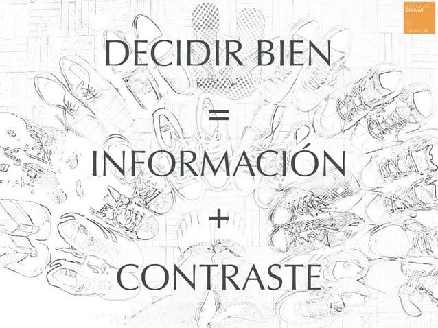 DECIDIR BIEN INFORMACIÓN + = CONTRASTE