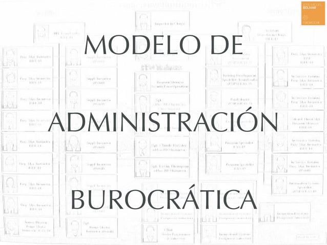 MODELO DE ADMINISTRACIÓN BUROCRÁTICA