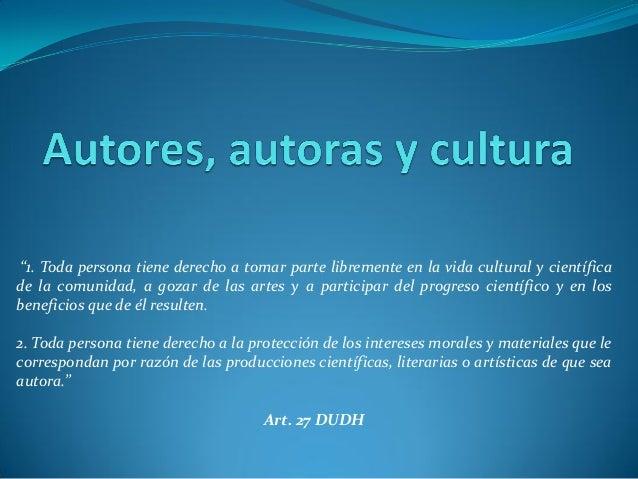 La propiedad intelectual desde el prima de los Derechos Humanos presentacion Slide 2