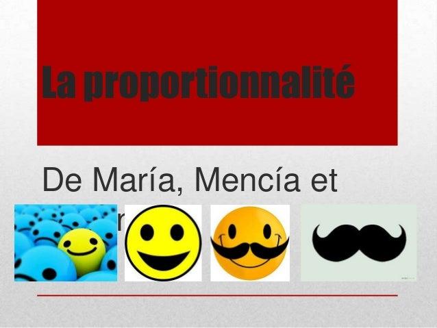 La proportionnalité De María, Mencía et Cristina