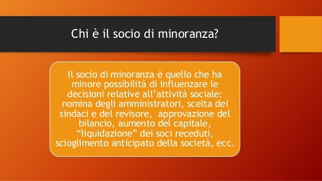 LA PROTEZIONE LEGALE DEL SOCIO DI MINORANZA. Slide 3