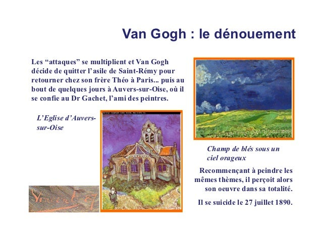 """Van Gogh : le dénouementLes """"attaques"""" se multiplient et Van Goghdécide de quitter l'asile de Saint-Rémy pourretourner che..."""