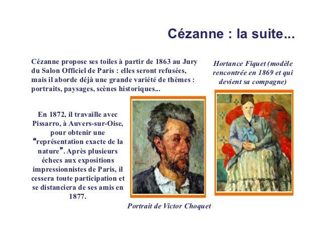 Cézanne : la suite...Cézanne propose ses toiles à partir de 1863 au Jury           Hortance Fiquet (modèledu Salon Officie...
