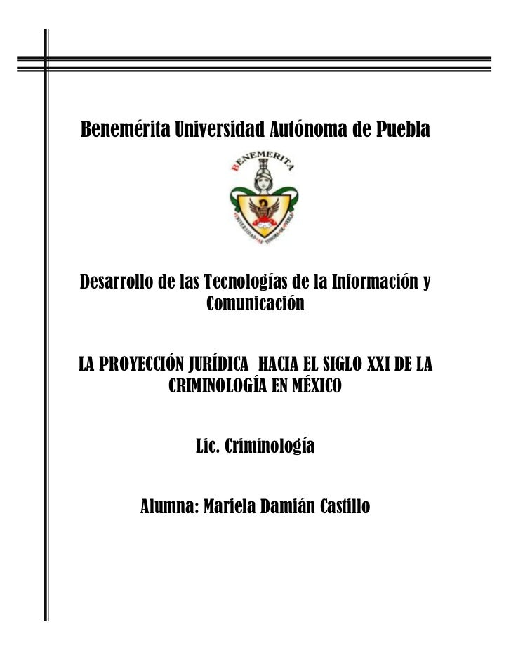 Benemérita Universidad Autónoma de PueblaDesarrollo de las Tecnologías de la Información y                  ComunicaciónLA...