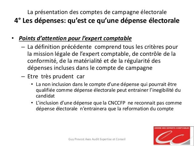 La pr sentation des comptes de campagne lectorale - Cabinet d expertise comptable definition ...