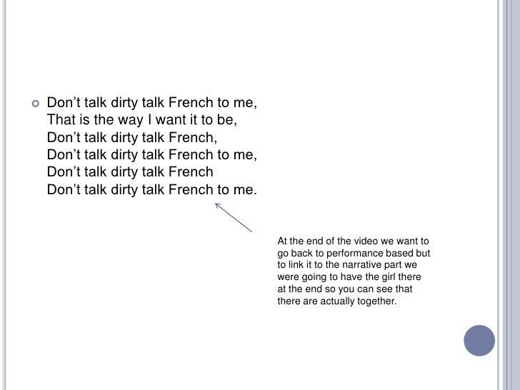 « dirty talk » traduction en français