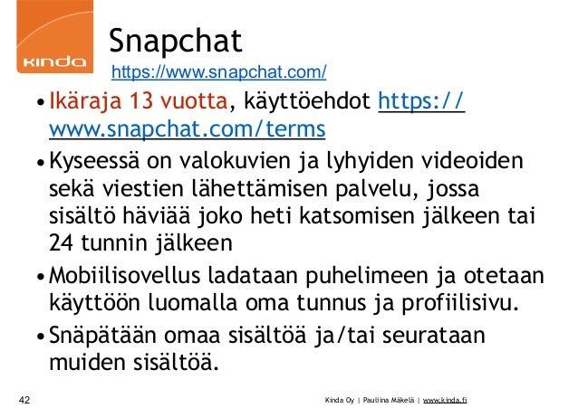Lapset ja nuoret netissä sekä WhatsAppin, Snapchatin ja Instagramin k…