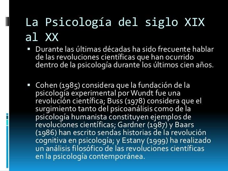 La psicologa del siglo xix al xx Slide 2