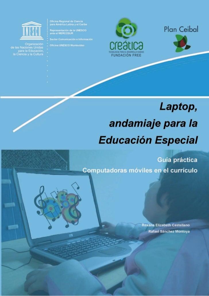 Laptop,andamiaje para laEducación EspecialGuía prácticaComputadoras móviles en el currículo                               ...