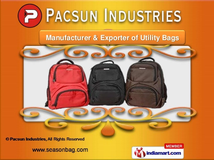 8d2cf93f5ad4 Laptop Backpack by Pacsun Industries Ahmedabad