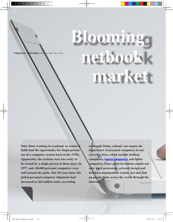 Blooming  Components Marketplace Market Insight | May 2010                                                        netbook ...