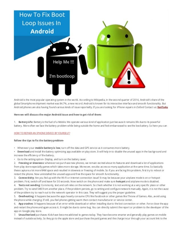Ways to Fix the Top 7 Most Common Android Issues - Fon Fix