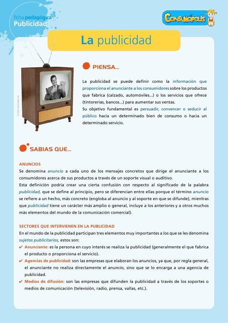 ficha pedagógica Publicidad                                                         La publicidad                         ...
