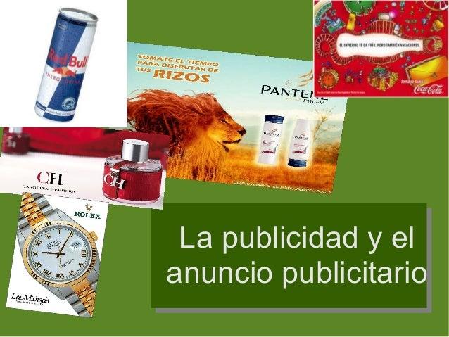 La publicidad y el anuncio publicitario