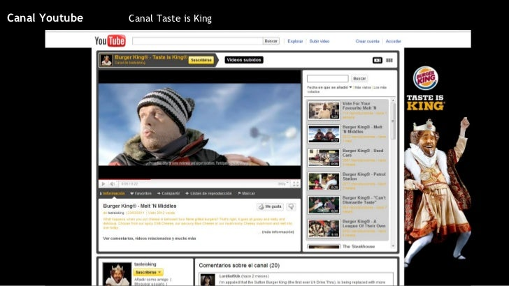 Canal Taste is King Canal Youtube