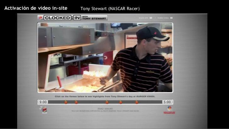 Tony Stewart (NASCAR Racer) Activación de video in-site