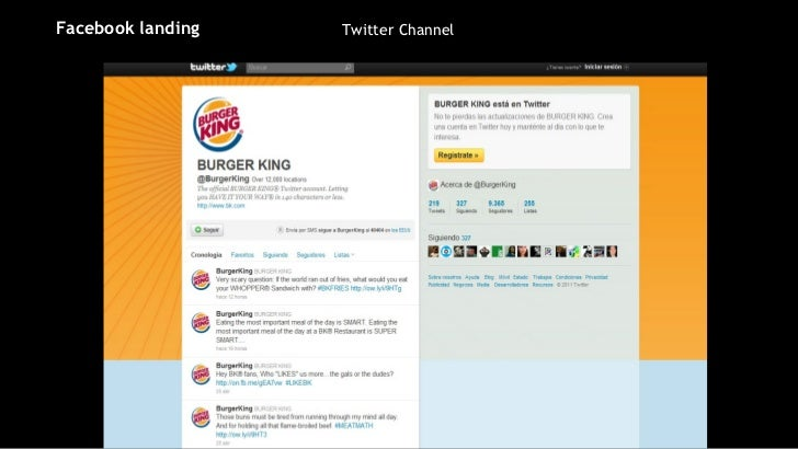 Twitter Channel Facebook landing