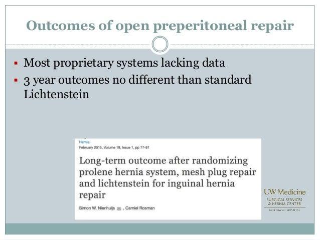 Laparoscopic Vs Open Inguinal Hernia Repair