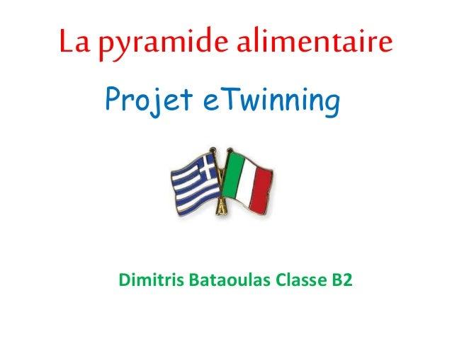 La pyramide alimentaire Projet eTwinning Dimitris Bataoulas Classe B2