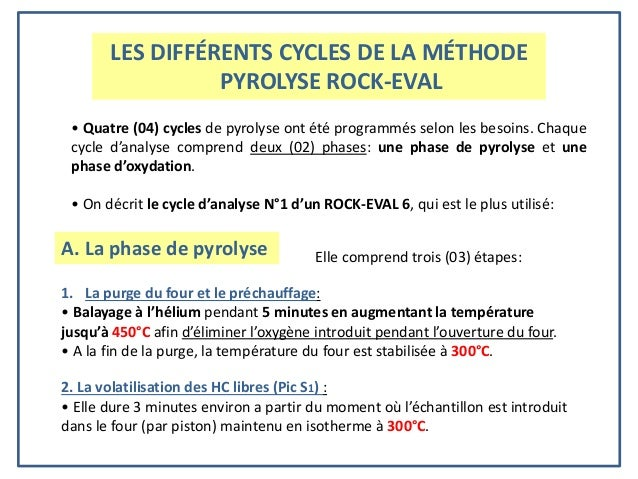 La Pyrolyse Rock Evaletsesapplication