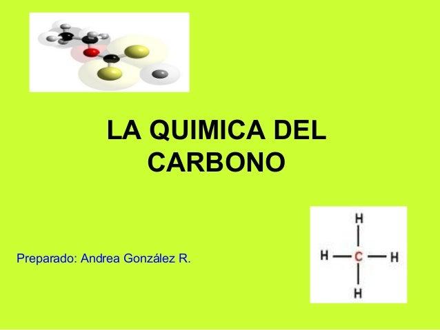 LA QUIMICA DEL CARBONO Preparado: Andrea González R.