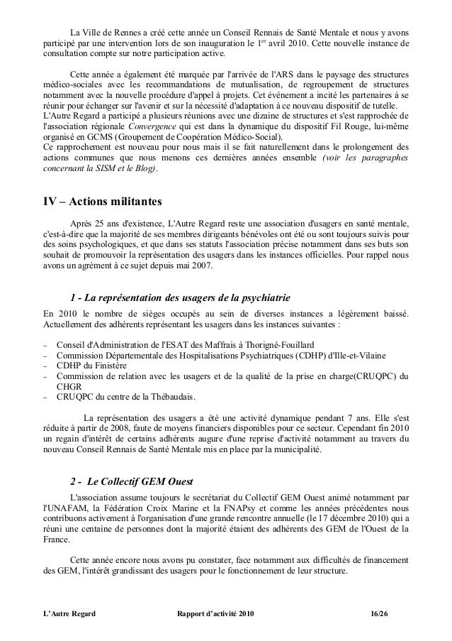 La Ville de Rennes a créé cette année un Conseil Rennais de Santé Mentale et nous y avonsparticipé par une intervention lo...