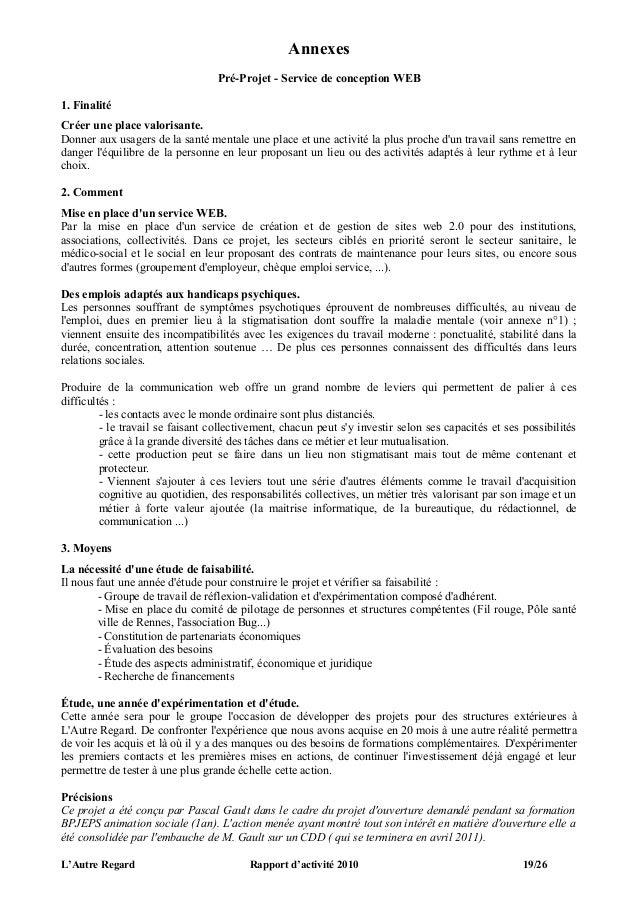 Annexes                                  Pré-Projet - Service de conception WEB1. FinalitéCréer une place valorisante.Donn...
