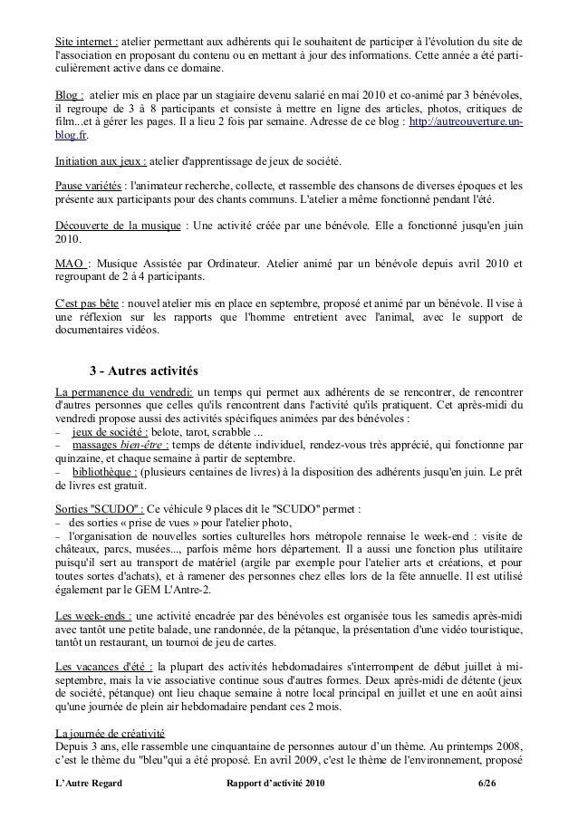 Site internet : atelier permettant aux adhérents qui le souhaitent de participer à lévolution du site delassociation en pr...