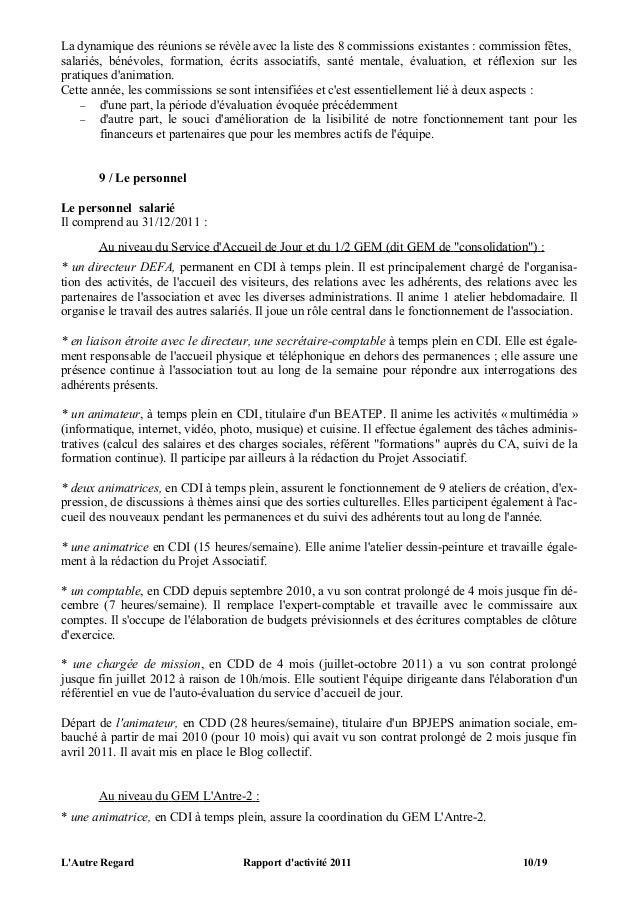 rapport d u0026 39 activit u00e9 2011