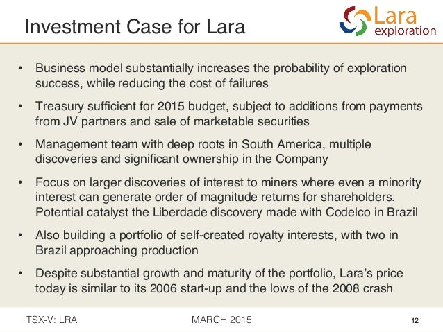 ceaa1db74fa 12. Investment Case for Lara! • Business model substantially increases the  ...