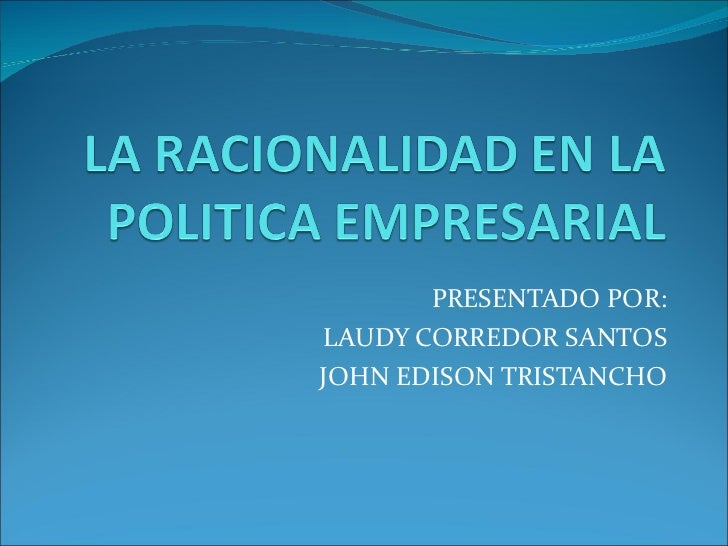 PRESENTADO POR: LAUDY CORREDOR SANTOS JOHN EDISON TRISTANCHO