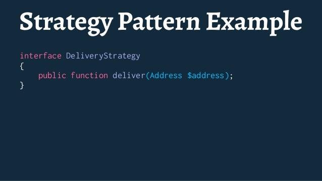 Provider Pattern Example class DominosServiceProvider extends ServiceProvider { public function register() { // Register y...