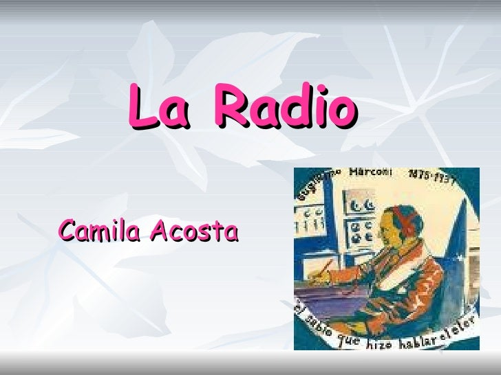 La Radio Camila Acosta