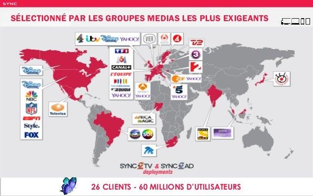 SY NC 26 CLIENTS - 60 MILLIONS D'UTILISATEURS SÉLECTIONNÉ PAR LES GROUPES MEDIAS LES PLUS EXIGEANTS