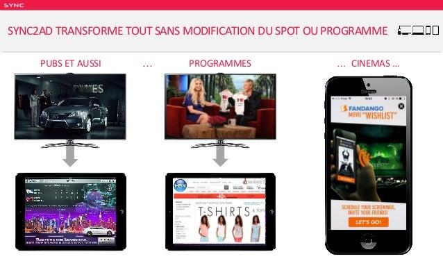 SY NC … PROGRAMMES … CINEMAS …PUBS ET AUSSI SYNC2AD TRANSFORME TOUT SANS MODIFICATION DU SPOT OU PROGRAMME