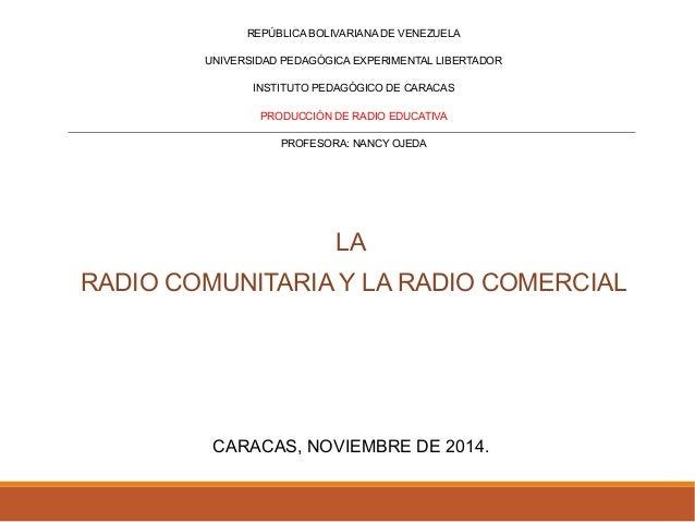 REPÚBLICA BOLIVARIANA DE VENEZUELA  UNIVERSIDAD PEDAGÓGICA EXPERIMENTAL LIBERTADOR  INSTITUTO PEDAGÓGICO DE CARACAS  PRODU...