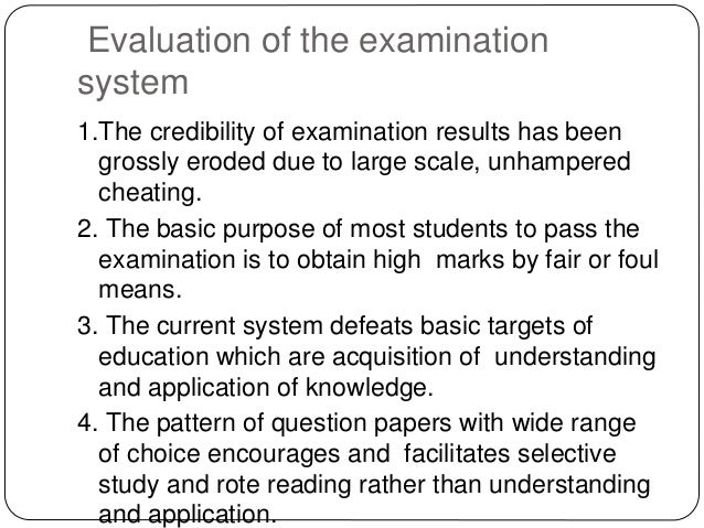 """examination system in pakistan I am immensely pleased that my letter """"unstandardized and defective evaluation practices in the examination system in pharmacy institutes of pakistan"""" 1 has been the center of attention among pakistan's pharmacy academics and authorities controlling the examination system, leading to a debate on ."""
