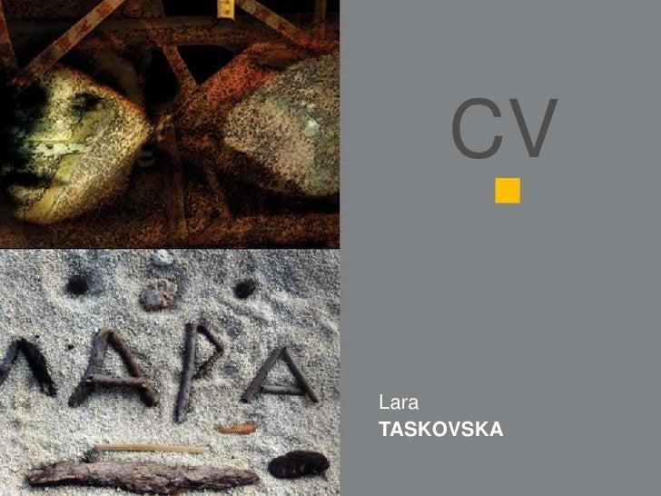 CV   Lara TASKOVSKA
