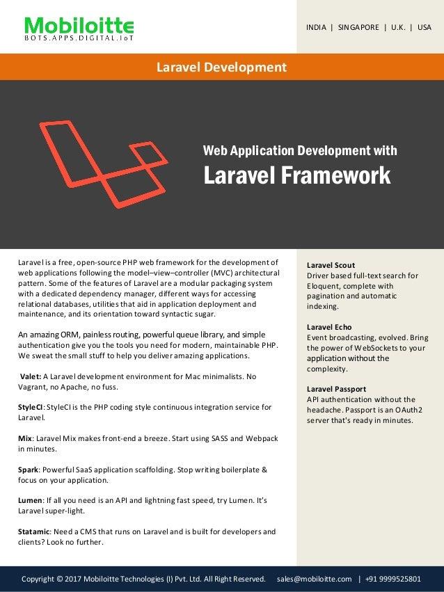 Laravel Development Services Mobiloitte